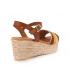 Sandale Eva Frutos 1610 marron multi | Compensé semelle gel pour femmes