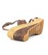 Chattawak Juliette bronze, sandale à talon compensé pour femmes