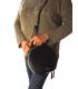 Sac à main XTI 86278 noir, petit sac rond en simili cuir pour femmes