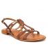 Les Tropéziennes par M Belarbi Hackle tan | Sandales en cuir marron semelle matelassée