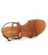 Spartiate Les Tropéziennes par M Belarbi Hackle tan | Sandales en cuir marron semelle matelassée