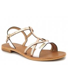 Sandale Les Tropéziennes par M Belarbi Hironela blanc | Spartiate en cuir blanche et drée