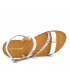 Sandale Les Tropéziennes par M Belarbi Batresse argent multi | Nu-pieds semelle gomme