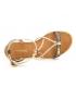 Sandale Les Tropéziennes par M Belarbi Hirondel noir irisé et doré