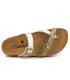 Chaussures Santafé Bio Miss or, sandale anatomique pour pieds sensibles