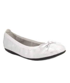 Ballerine Chattawak Ella Croco argent, nouveauté chaussures femmes