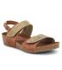 Sandale Inter Bios 5343 marron et kaki semelle cuir matelassée