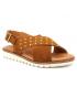 Kaola 2202 nubuck marron, sandale confort semelle à mémoire de formes spécial pieds sensibles