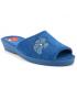 Mules Soir Et Matin Bain bleu, pantoufle à enfiler bout ouvert pour pieds sensibles