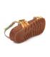 Laura Vita Brcyano 53 orange, sandales en cuir pour femmes,réglage par 3 velcros