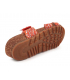 Mule scratch en cuir Laura Vita Brcyano 51 rouge, nus-pieds compensé pour femmes