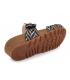 Mule scratch en cuir Laura Vita Brcyano 51 noire | Nus-pieds compensé pour femmes