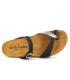 Passe orteil Carla Tortosa 93106 noir multi | Tongs anatomique en liège bio, spécial pieds sensibles