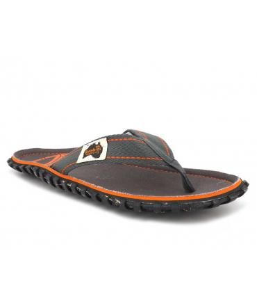 Tongs Gumbies islander Islander Slate gris et orange| Nouveauté tongs conçues avec des produits recyclés