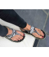 Gumbies Slingback multi | Tongs avec passant cheville en tissu style bandana