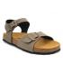 Sandale bio Emma 7708 marron cuir et liège pour filles et garçons