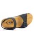 Sandale anatomique Emma 7708 noires cuir et liège pour filles et garçons