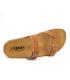 Claquette Emma 9156 Cork liège et cuir, semelle anatomique 3 cm épaisseur