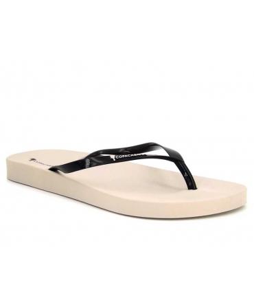 Tongs femmes Copacabana Anatomic II beige et noir   Nouveauté chaussures été