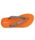 Tongs Copacabana 82788 Brasil AD orange et gris , fabriquées au Brésil