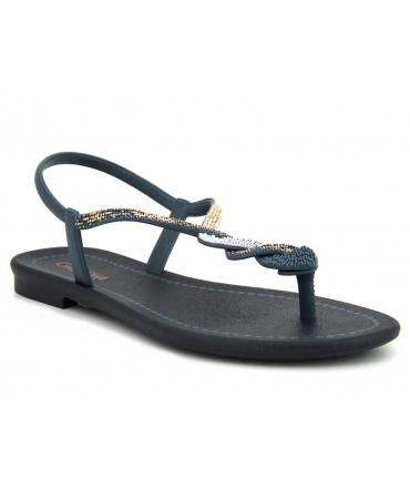 Nu-pieds Grendha 18125 Cacau Herancas bleu, fabriqué au Brésil