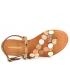 Sandales Les Tropéziennes Holo bronze multi, nouveauté entre-doigts en cuir pour femmes