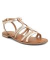 Sandales Les Tropéziennes Bongo or, nu-pieds brides en cuir tressées doré
