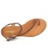 Les Tropéziennes par M Belarbi sandale cuir tressé Hidea marron ( Tan )