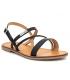 Sandale Les Tropéziennes par M Belarbi Batresse noire| Nu-pieds semelle gomme