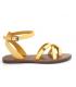 Chattawak Perla jaune, nu-pieds passe orteil + bride cheville