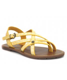 Chattawak Margot jaune, sandale entre doigts pour femmes