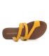 Nu pieds Chattawak Texane jaune, passe orteil avec brillants
