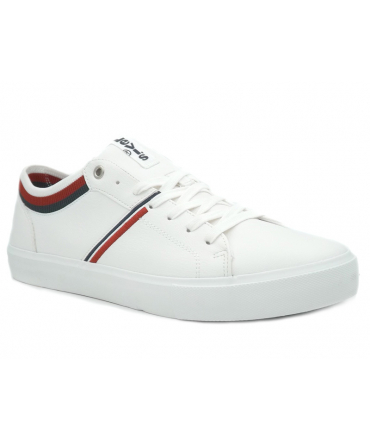 Baskets basses Lévi's Woodward College blanc, sneakers hommes