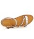 Sandale Les Tropéziennes par M Belarbi Batresse étain multi | Nu-pieds semelle gomme
