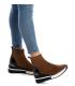 Baskets montantes Xti 43101 camel, nouveauté sneakers femmes