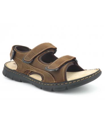 Tbs Sayrron marron, sandale velcros confortable pour hommes