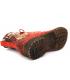 Bottines Laura Vita Gacmayo 217 rouge, boots pour femmes en cuir