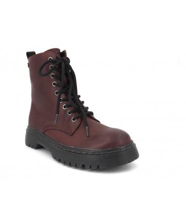 Xti 43226 bordeaux, boots femmes style Doc Martens