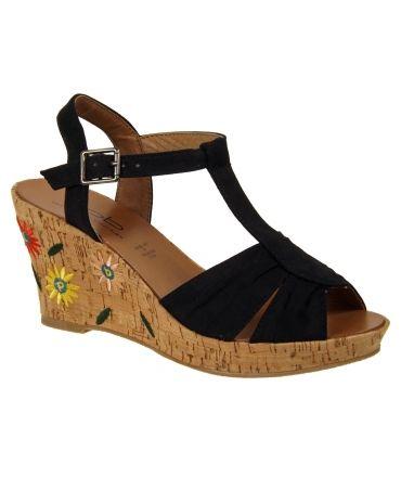 Sandales Les P'tites Bombes Judy noir