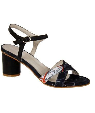 Sandale Desigual à talon rond noire