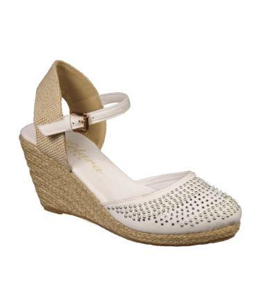 Sandales compenses Kelara blanc