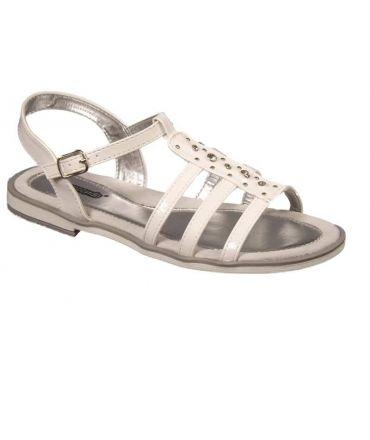 Sandales strass vernis blanc