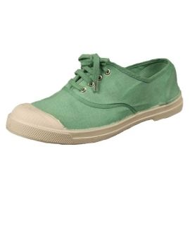 Tennis lacets aqua Bensimon