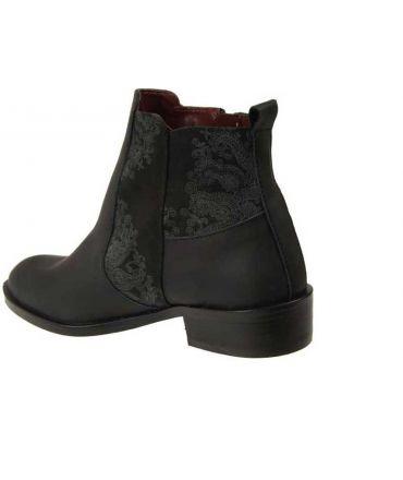Brora En Boots Desigual Shoes Un Avec Noir Talon Cuir Petit hQtsrCd
