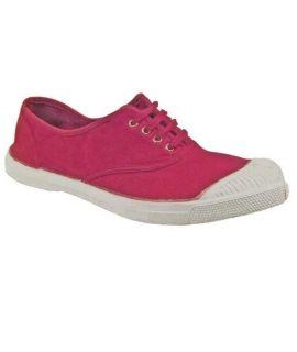 Bensimon tennis à lacets rose foncé