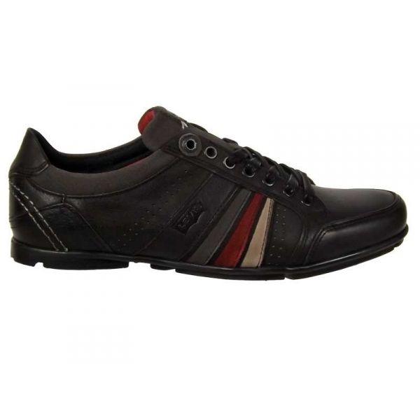 levis firebaugh noir chaussures derbies pour homme moins de 100. Black Bedroom Furniture Sets. Home Design Ideas