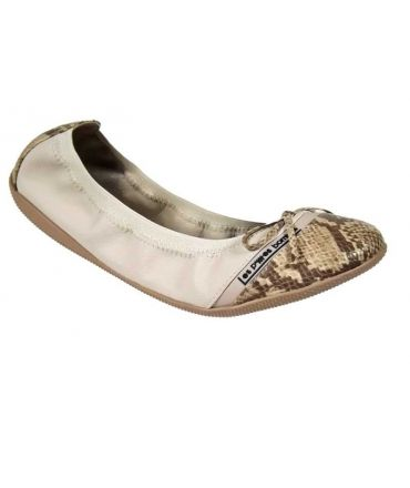 Ballerines LPB-Shoes Caprice Serpent beige