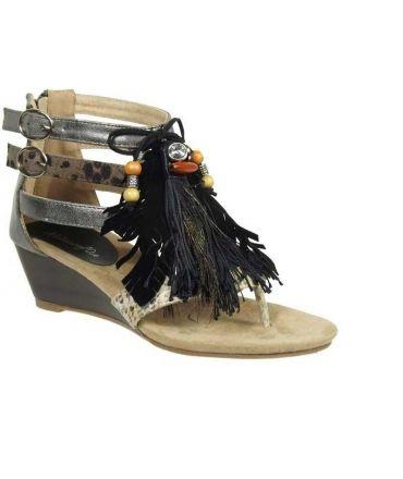 Métamorfose sandales Ranufil métal gris