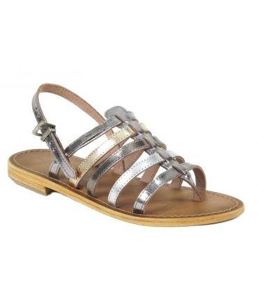 Les Tropéziennes sandales Herisson argent multi
