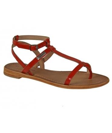 Les Tropéziennes sandales Hilan rouge par M Belarbi
